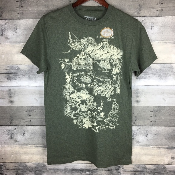 d451fcff0 The Legend of Zelda Shirts | Mens Graphic Tee Map Link | Poshmark